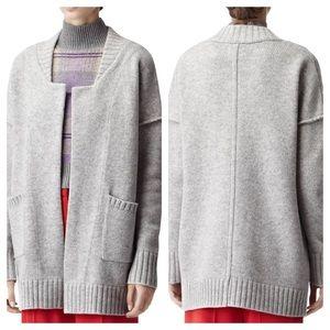 Reiss Women's Gray Zaria Knitted Cardigan
